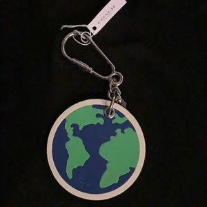 Coach Earth keychain-leather